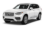 2018 Volvo XC90 Inscription 5 Door SUV angular front stock photos of front three quarter view