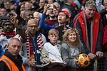 © Joel Goodman - 07973 332324 . 17/05/2015 .  Pre match autograph hunters . 0-0 . Manchester Utd vs Arsenal at Old Trafford Football Stadium , Manchester . Photo credit : Joel Goodman