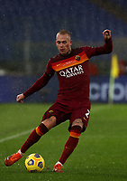 Football, Serie A: AS Roma - Sampdoria calcio, Olympic stadium, Rome, January 3, 2021. <br /> Roma's Rick Karsdorp in action during the Italian Serie A football match between Roma and Sampdoria at Rome's Olympic stadium, on January 3, 2021.  <br /> UPDATE IMAGES PRESS/Isabella Bonotto