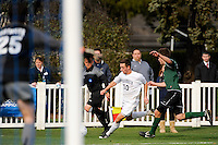 Ryan Kinne (10) of the Monmouth Hawks plays the all. Dartmouth defeated Monmouth 4-0 during the first round of the 2010 NCAA Division 1 Men's Soccer Championship on the Great Lawn of Monmouth University in West Long Branch, NJ, on November 18, 2010.