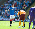:: RANGERS' KYLE LAFFERTY IS YELLOW CARDED ::