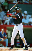 Boston Red Sox Ellis Burks during spring training circa 1991 at Chain of Lakes Park in Winter Haven, Florida.  (MJA/Four Seam Images)