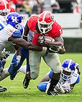 ATHENS, GEORGIA - November 7, 2015: University of Georgia Bulldogs play the Kentucky Wildcats at Sanford Stadium. Final score Georgia 27, Kentucky 3