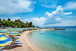 Croatia, Kvarner Gulf, Selce: popular holiday resort between Crikvenica and Novi Vinodolski, beach | Kroatien, Kvarner Bucht, Selce: beliebter Ferienort an der Kvarner Bucht zwischen Crikvenica und Novi Vinodolski, Strand