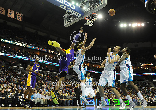 The New Orleans Hornets blow a 25 point lead to the LA Lakers and fall 108-102, at the New Orleans Arena.