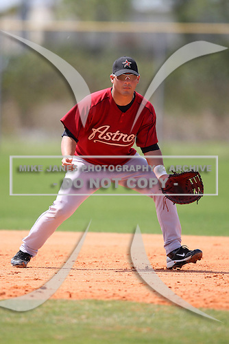 March 22, 2010:  First Baseman Ronald Sanchez of the Houston Astros organization during Spring Training at the Carl Barger Training Complex in Melbourne, FL.  Photo By Mike Janes/Four Seam Images