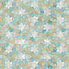 Medina, waterjet jewel glass mosaic, shown in Aquamarine, Shell, Agate, is part of the Miraflores Collection by Paul Schatz for New Ravenna Mosaics.
