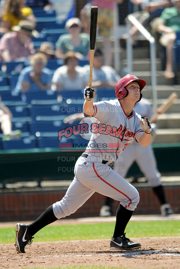 Altoona Curve outfielder Alex Dickerson #30  during a game versus the Portland Sea Dogs at Hadlock Field in Portland, Maine on June 2, 2013. (Ken Babbitt/Four Seam Images)