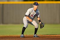 Shortstop Ryan Molica #24 of the Kingsport Mets on defense versus the Burlington Royals at Burlington Athletic Park July 3, 2009 in Burlington, North Carolina. (Photo by Brian Westerholt / Four Seam Images)