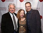 """Donald T. Sanders, Eve Wolf and Max Barros attends the Opening Night Celebration for Ensemble for the Romantic Century Off-Broadway Premiere of<br />""""Maestro"""" at the West Bank Cafe on January 15, 2019 in New York City."""