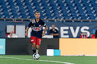 FOXBOROUGH, MA - JULY 23: Jake Rozhansky #32 of New England Revolution II looks to pass during a game between Toronto FC II and New England Revolution II at Gillette Stadium on July 23, 2021 in Foxborough, Massachusetts.
