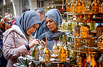 Women in the markets during Stage 7 of the 2015 Presidential Tour of Turkey running 124km from Istanbul to Istanbul. 3rd May 2015.<br /> Photo: Tour of Turkey/Steve Thomas/www.newsfile.ie