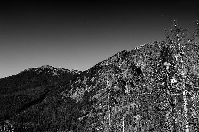 Moon Over Death Canyon, Grand Teton National Park