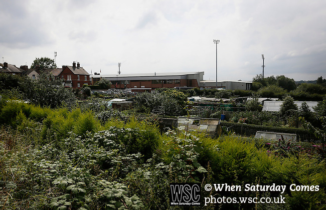 Port Vale 3 Doncaster Rovers 0, 22/08/2015. League One, Vale Park. Allotments behind the KMF stand at Vale Park. Photo by Paul Thompson.