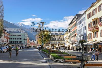Austria, East-Tyrol, Lienz: Main Square (Hauptplatz) at centre of the Old Town   Oesterreich, Osttirol, Lienz: der Hauptplatz im Zentrum der Altstadt
