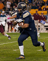 Pitt running back James Conner. The Virginia Tech Hokies defeated the Pitt Panthers 39-36 on October 27, 2016 at Heinz Field in Pittsburgh, Pennsylvania.