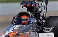 May 30, 2009; Topeka, KS, USA: NHRA top fuel dragster driver Cory McClenathan during qualifying for the Summer Nationals at Heartland Park Topeka. Mandatory Credit: Mark J. Rebilas-