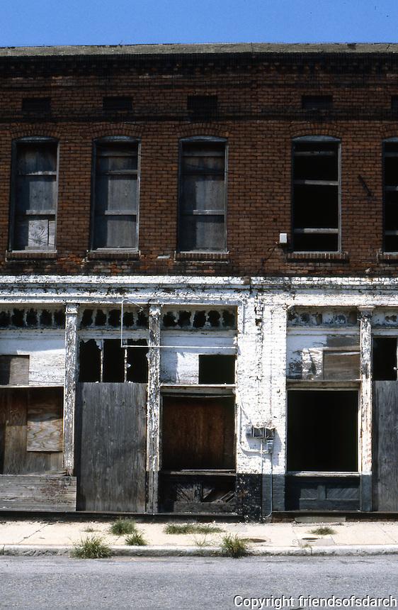 Memphis:  Upper Beale St. building.
