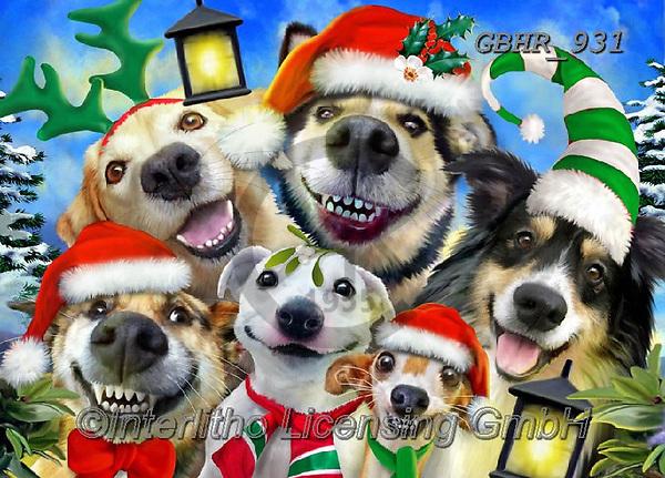 Howard, CHRISTMAS ANIMALS, WEIHNACHTEN TIERE, NAVIDAD ANIMALES, paintings+++++,GBHR931,#xa# ,selfies