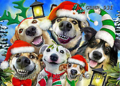 Howard, CHRISTMAS ANIMALS, WEIHNACHTEN TIERE, NAVIDAD ANIMALES, paintings+++++,GBHR931,#xa# ,selfies