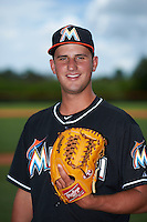 GCL Marlins pitcher Ryan McKay (38) poses for a photo before the second game of a doubleheader against the GCL Mets on July 24, 2015 at the St. Lucie Sports Complex in St. Lucie, Florida.  GCL Marlins defeated the GCL Mets 5-4.  (Mike Janes/Four Seam Images)