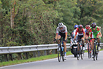 The breakaway group forms after 10km featuring Krists Neilands (LAT) Israel Cycling Academy, Thomas De Gendt (BEL) Lotto-Soudal, Umberto Orsini (ITA) Bardiani-CSF and Willem Smit (RSA) Katusha Alpecin during the 99th edition of Milan-Turin 2018, running 200km from Magenta Milan to Superga Basilica Turin, Italy. 10th October 2018.<br /> Picture: Eoin Clarke | Cyclefile<br /> <br /> <br /> All photos usage must carry mandatory copyright credit (© Cyclefile | Eoin Clarke)