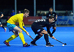 NZ's Nick Wilson in action during the Sentinel Homes Trans Tasman Series hockey match between the New Zealand Black Sticks Men and the Australian Kookaburras at Massey University Hockey Turf in Palmerston North, New Zealand on Tuesday, 1 June 2021. Photo: Dave Lintott / lintottphoto.co.nz