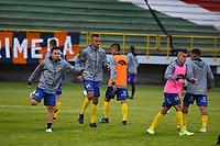 TUNJA - COLOMBIA, 01-04-2021: Boyacá Chicó F.C. y Alianza Petrolera en partido por la fecha 16 de la Liga BetPlay DIMAYOR I 2021 jugado en el estadio La Independencia de la ciudad de Tunja. / Boyaca Chico F.C. and Alianza Petrolera in match for the date 16 of the BetPlay DIMAYOR League I 2021 played at La Independencia stadium in Tunja city. Photo: VizzorImage / Edward Leguizamon / Cont