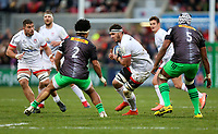Saturday 7th December 2019   Ulster Rugby vs Harlequins<br /> <br /> Marcell Coetzee during the Heineken Champions Cup Round 3 clash in Pool 3, between Ulster Rugby and Harlequins at Kingspan Stadium, Ravenhill Park, Belfast, Northern Ireland. Photo by John Dickson / DICKSONDIGITAL