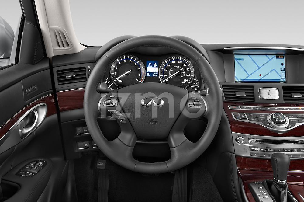 Car pictures of steering wheel view of a 2015 Infiniti Q70 Base 4 Door Sedan Steering Wheel