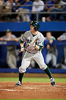 Siena Saints right fielder Matt Hamel (6) squares to bunt during a game against the Florida Gators on February 16, 2018 at Alfred A. McKethan Stadium in Gainesville, Florida.  Florida defeated Siena 7-1.  (Mike Janes/Four Seam Images)