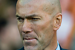 Manager Zinedine Zidane of Real Madrid reacts priori to the La Liga 2017-18 match between Valencia CF and Real Madrid at Estadio de Mestalla  on 27 January 2018 in Valencia, Spain. Photo by Maria Jose Segovia Carmona / Power Sport Images
