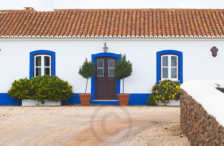 The old farm house in traditional Portuguese style. Herdade da Malhadinha Nova, Alentejo, Portugal