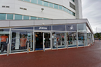Pictured: Exterior of the club shop. Friday 24 August 2018<br /> Re: Swansea City FC third kit launch at the club shop, Liberty Stadium, Swansea, Wales, UK.