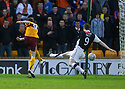 :: MOTHERWELL'S JAMIE MURPHY SCORES THE FIRST  ::.30/03/2011   sct_jsp007_motherwell_v_dundee_utd     .Copyright  Pic : James Stewart.James Stewart Photography 19 Carronlea Drive, Falkirk. FK2 8DN      Vat Reg No. 607 6932 25.Telephone      : +44 (0)1324 570291 .Mobile              : +44 (0)7721 416997.E-mail  :  jim@jspa.co.uk.If you require further information then contact Jim Stewart on any of the numbers above.........