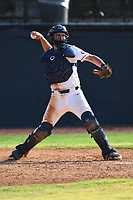MJ Lucas (12) (UNC Asheville) of the Bristol State Liners during a game against the Kingsport Axemen on June 13, 2021 at Boyce Cox Field in Bristol, Virginia. (Tracy Proffitt/Four Seam Images)