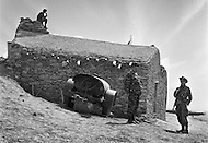 "Mascara Area, Algeria, Summer 1961. Typical French Fort for a small harka unit. This unit counted 48 ""harkis"", Arab origin, fighting along the French troops. This fort was above the small vilage of M'Zaourat of about 50 souls. The fort construction was made by disciplinary section of First Regiment of Foreign Legion."