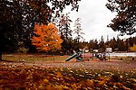 Summer is over as fall storms in to Western Washington at Five Mile Lake, King and Pierce county line, Washington.