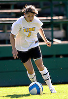 2 September 2007: University of Vermont Catamounts' Lexie Kaknes, a Junior from St. Charles, IL, in action against the George Washington University Colonials at Historic Centennial Field in Burlington, Vermont. The Colonials rallied to defeat the Catamounts 2-1 in overtime during the TD Banknorth Soccer Classic...Mandatory Photo Credit: Ed Wolfstein Photo