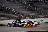 NASCAR Camping World Truck Series<br /> JAG Metals 350<br /> Texas Motor Speedway<br /> Fort Worth, TX USA<br /> Friday 3 November 2017<br /> Christopher Bell, JBL Toyota Tundra, Ben Rhodes, Safelite Auto Glass Toyota Tundra<br /> World Copyright: John K Harrelson<br /> LAT Images