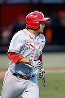 D.J. Peterson of the New Mexico Lobos runs the bases during a game against the San Diego State Aztecs at Tony Gwynn Stadium on May 16, 2013 in San Diego, California. New Mexico defeated San Diego State, 14-6. (Larry Goren/Four Seam Images)