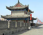 Ancient city wall of the city of Xian, China.
