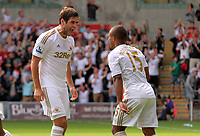Saturday, 01 September 2012<br /> Pictured L-R: Danny Graham and Wayne Routledge of Swansea<br /> Re: Barclays Premier League, Swansea City FC v Sunderland at the Liberty Stadium, south Wales.