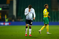 7th November 2020; Carrow Road, Norwich, Norfolk, England, English Football League Championship Football, Norwich versus Swansea City; A dejected Jake Bidwell of Swansea City after the 1-0 loss