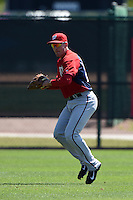 Washington Nationals outfielder Bryan Lippincott (22) during practice before a minor league spring training game against the Atlanta Braves on March 26, 2014 at Wide World of Sports in Orlando, Florida.  (Mike Janes/Four Seam Images)