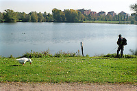 milano, parco delle cave al quartiere baggio --- milan, quarry park at the baggio district