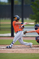 Houston Astros Alejandro Garcia (8) during a Minor League Spring Training Intrasquad game on March 28, 2018 at FITTEAM Ballpark of the Palm Beaches in West Palm Beach, Florida.  (Mike Janes/Four Seam Images)