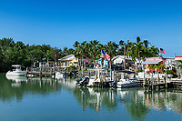The small coastal town of Goodland on Marco Island.