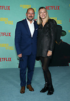 LOS ANGELES, CA - OCTOBER 13: Elena Cozlovschi, Mihai Malaimare, at the Special Screening Of The Harder They Fall at The Shrine in Los Angeles, California on October 13, 2021. Credit: Faye Sadou/MediaPunch