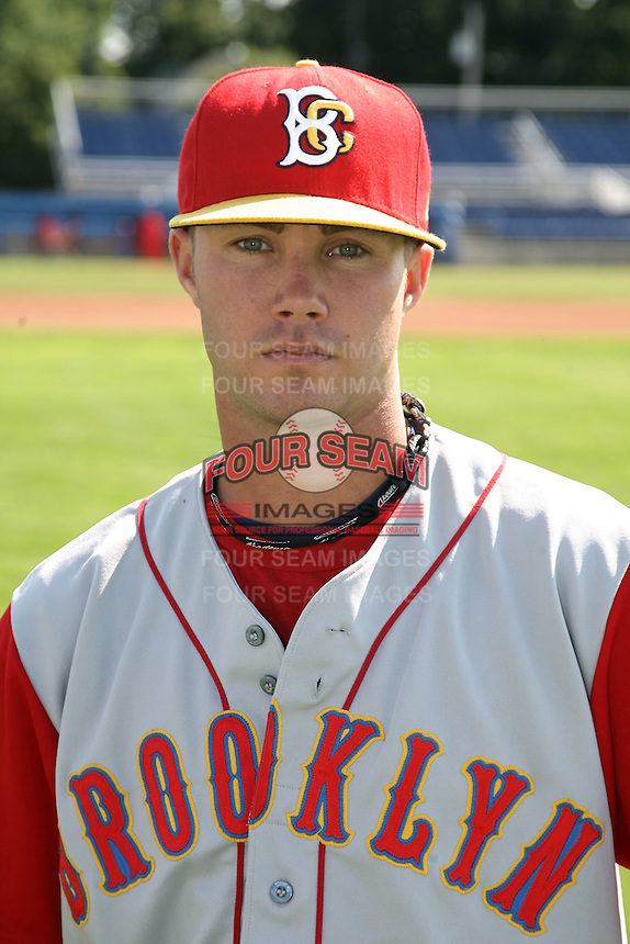 August 6, 2009:  Pitcher Mike Lynn of the Brooklyn Cyclones during a game at Dwyer Stadium in Batavia, NY.  The Cyclones are the Short-Season Class-A affiliate of the New York Mets.  Photo By Mike Janes/Four Seam Images